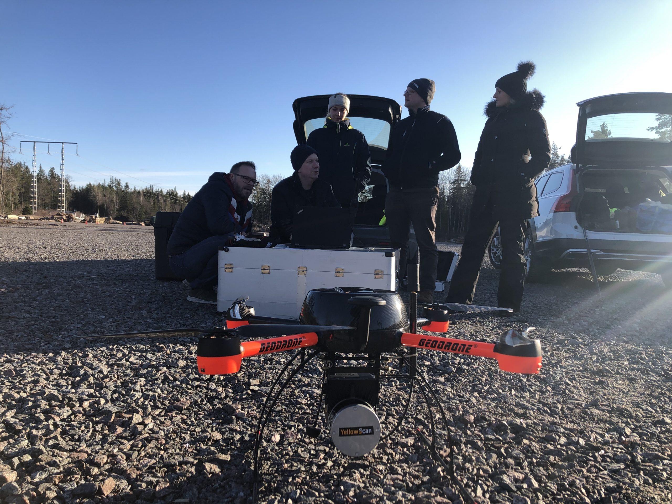 Drönarbaserad laserskanning – Swescan internutbildar 5 piloter